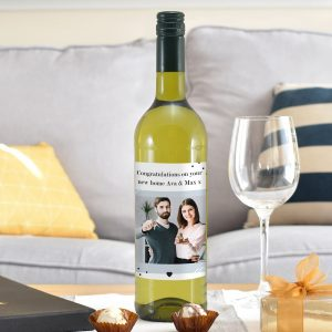 Personalised Photo Upload White Wine