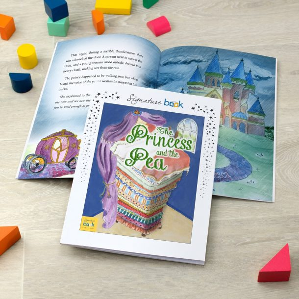 Personalised Princess & The Pea Softback Book