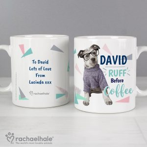 Personalised Rachael Hale Ruff Before Coffee Dog Mug