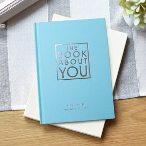 Personalised The Book About You Blue Hardback