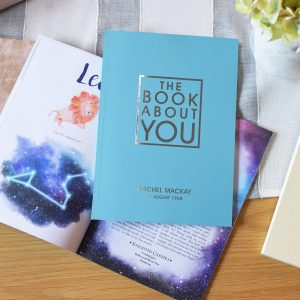 Personalised The Book About You Blue Softback