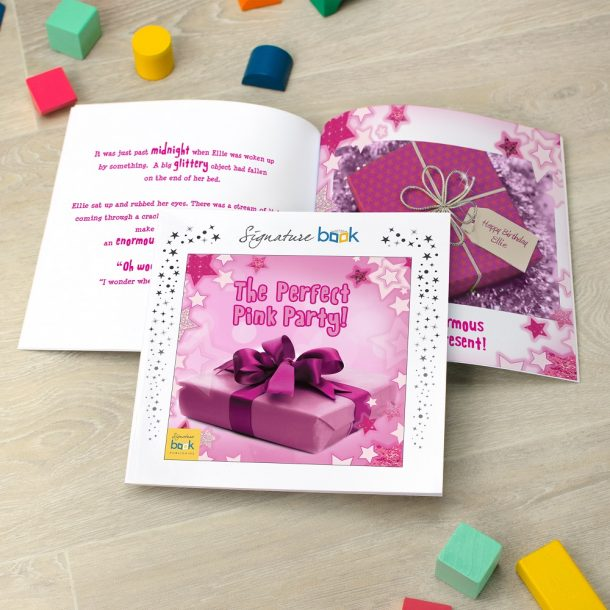 Personalised The Perfect Pink Party Softback Book