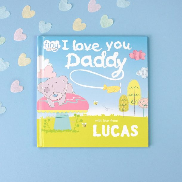 Personalised Tiny Tatty Teddy I Love You Daddy Softback Book