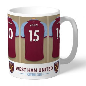 Personalised West Ham United FC Dressing Room Mug