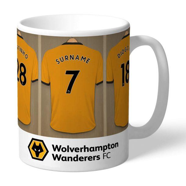 Personalised Wolves Dressing Room Mug