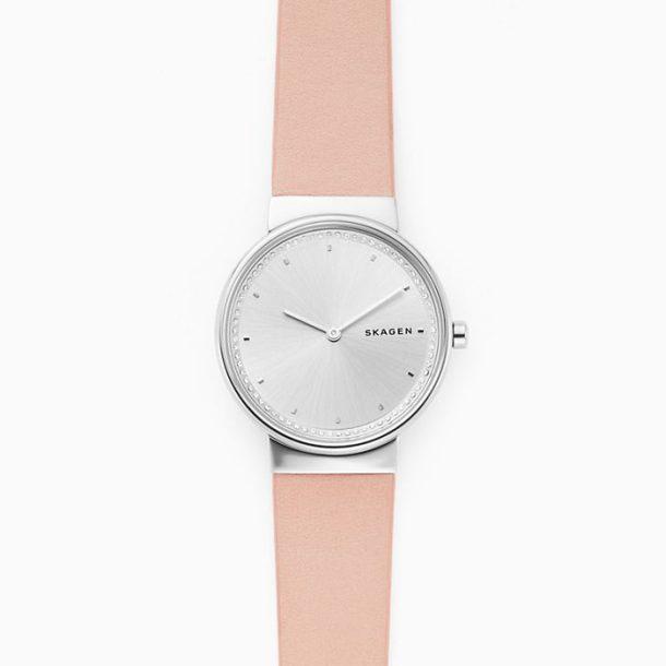 Skagen Ladies Annelie Pink Leather Watch