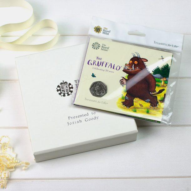 Uncirculated Gruffalo 50p & Personalised Gift Box