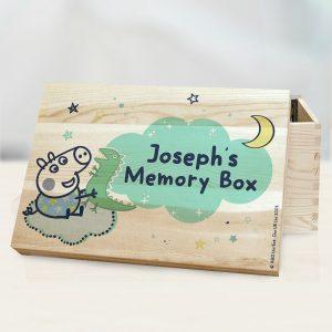 Personalised George Pig Memory Box