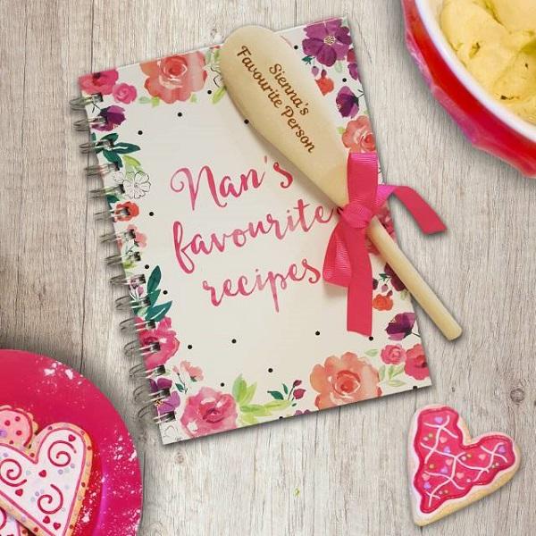 Personalised Nan's Favourite Recipe Book & Spoon