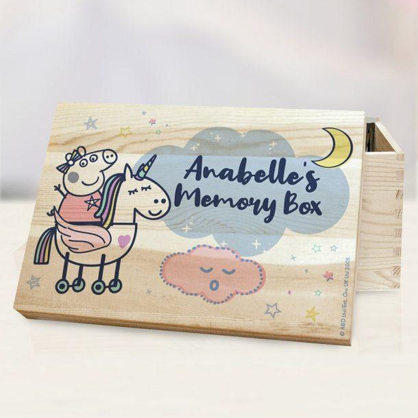 Personalised Peppa Pig Memory Box