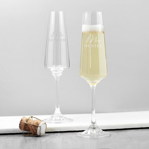Personalised Couples' Champagne Flute Set