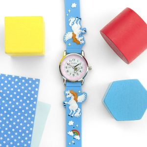 Personalised Girls Rainbow Unicorn Watch