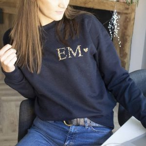 Personalised Leopard Print Monogram Sweatshirt