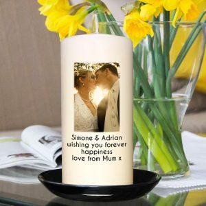 Personalised Photo Upload Candle