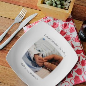Personalised Photo Upload Square Plate