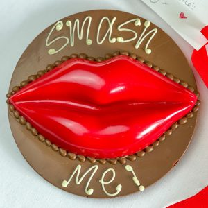 Personalised Red Smash Kiss