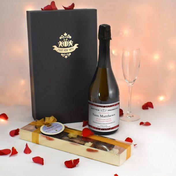 Personalised Valentines Prosecco & Chocolates