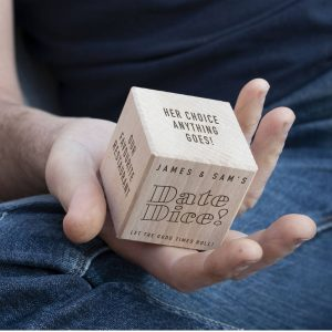 Personalised Wooden Date Dice