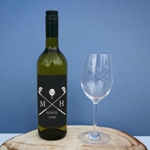 Golf White Wine Gift Set