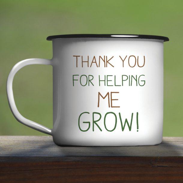 Helping Me To Grow Enamel Mug