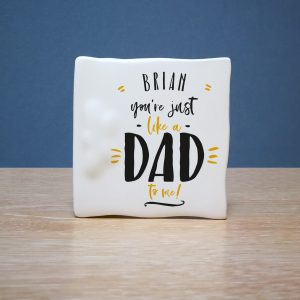 Just Like A Dad To Me Message Card
