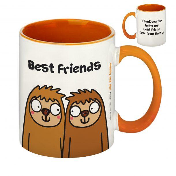 Best Friends Sloth Orange Inside Mug