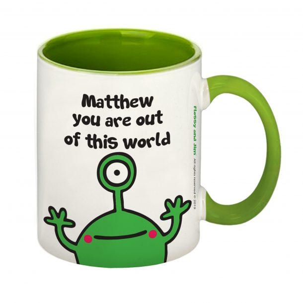 Cosmic Alien Green Inside Mug