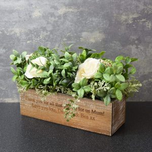 Personalised Artificial Flower Box