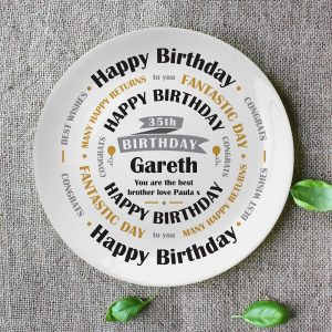 Personalised Birthday Celebration Bone China Plate