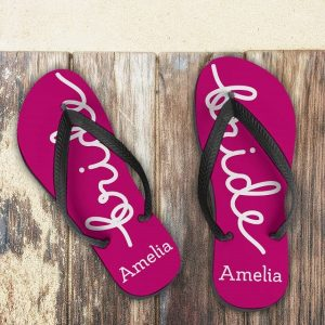 Personalised Bride Flip Flops