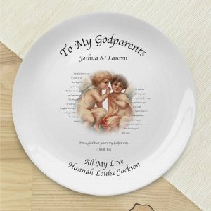 Personalised Cherubs GodParent Plate