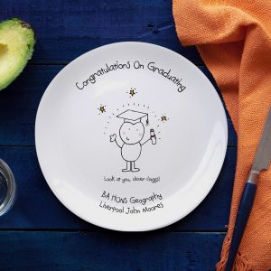 Personalised Chilli & Bubbles Graduation Plate