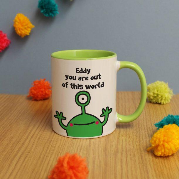 Personalised Cosmic Alien Mug