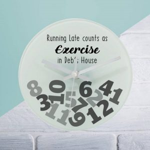 Personalised Exercise Glass Clock