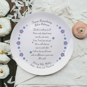 Personalised Forget Me Not Bone China Plate