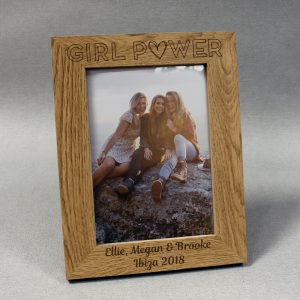 Personalised Girl Power Wooden Photo Frame
