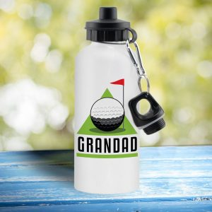 Personalised Golf Green and White Drinks Bottle
