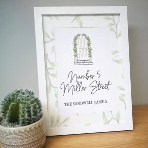 Personalised Home A4 Framed Print