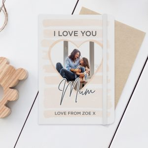 Personalised I Love You Photo Upload Notebook
