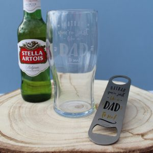 Personalised Just Like A Dad To Me Lager Gift Set