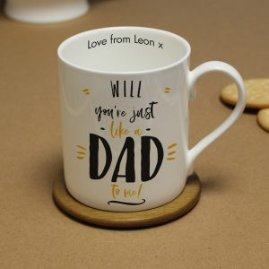 Personalised Just Like A Dad To Me Large Balmoral Mug
