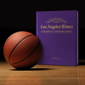 Personalised Kobe Bryant Tribute-LA Times Newspaper Book