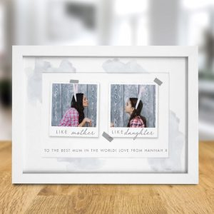 Personalised Like Polaroid A4 Framed Print