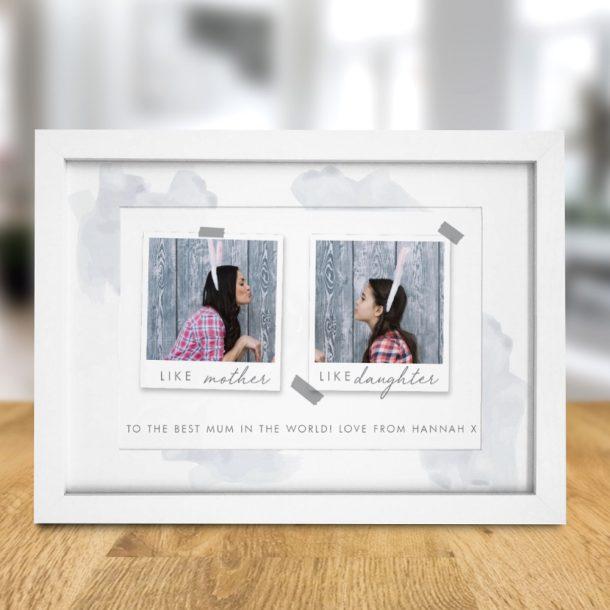 Personalised Like Polaroid A4 Framed Print