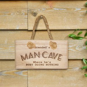 Personalised Man Cave Wooden Door Sign