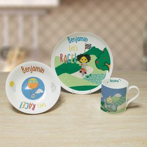 Personalised Moon and Me Let's Race Breakfast Set