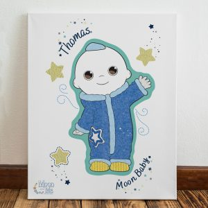 Personalised Moon and Me Moon Baby Canvas