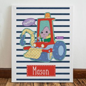 Personalised Moon and Me Mr Onion Canvas
