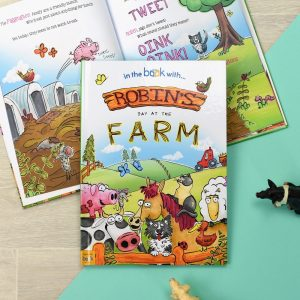 Personalised My Day At The Farm Softback Story Book