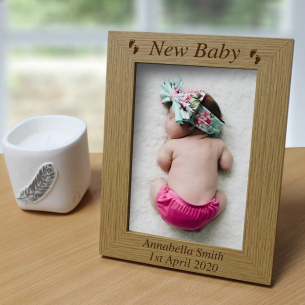 Personalised New Baby 5x7 Photo Frame